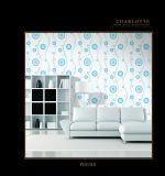 Papier peint bon marché imperméable à l'eau de PVC de matériau décoratif de mur intérieur