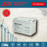 Hohe Kinetik der Gel-Batterie-12V80ah für Sonnenenergie