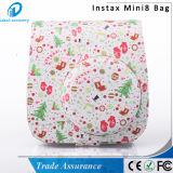 PU кожаный Mini8 Mini8 белого цветка плюс мешок случая камеры