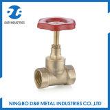 Válvula de bronze da torneira de batente Dr3006 com o volante da folha do ferro de molde