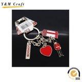 La lettera inglese personalizzata Keytag, colore ha riempito il metallo Keychains