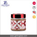 tarro de cristal del almacenaje 700ml con la funda decorativa