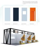 Sistema de visualización de pared de la decoración de la escuela