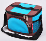 Multi Color Ice Cooler Bag com bolso lateral