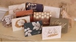 Alta calidad de la tarjeta de felicitación Impresión con Estampación