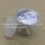 Latas plásticas vacías con la tapa abierta fácil para los bocados de China
