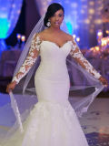 Сексуально плюс платье венчания Mermaid шнурка втулки --Плеча размера длиннее (Dream-100078)
