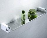 """크롬 결합 백색 벽 마운트 18 """" 목욕 수건 걸이 바 선반 유리제 선반"""