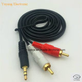 2RCA/2r stop aan 3.5mm/3.5 Stereo Plug O.D.: 2.6*5.2mm Kabel RCA/AV/TV/Audio