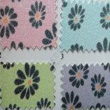 Cuoio dell'unità di elaborazione di scintillio di disegno del fiore per la tappezzeria Hw-675 della decorazione