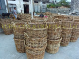 Корзина квадрата волокна ротанга & кокосов Salim Handwoven