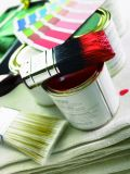 """Pinceau des outils 1 de peinture """" avec le brin pur normal et le traitement en plastique"""