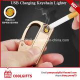 Горячий продавая лихтер USB металла Windproof поручая с ключевой цепью/кольцом