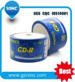 CD-R imprimibles de los CD-R inyección de tinta blanca negra 52X 80min
