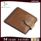 De fabriek paste de Echte Retro Portefeuilles van de Mensen van de Klem van het Geld van het Leer van het Ontwerp aan