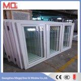 Ventana de aluminio de doble cristal de ventana abatible