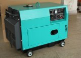 Gerador de potência Diesel silencioso portátil pequeno refrigerado a ar 5kw com Ce/ISO