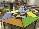 Подгонянный цветом стол регулируемой школы трапецоида стальной низкопробный