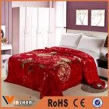 マルチ花デザインホーム織物のための暖かいRaschel毛布