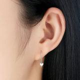 Argent de 925 Stering aucune boucle d'oreille argentée en pierre