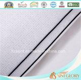 Coperchio impresso bianco del cuscino di prezzi del cotone della protezione pura poco costosa del cuscino con il rinforzo
