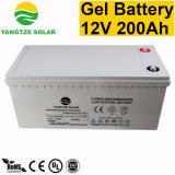 Batterie solaire de gel 12V 200ah pour la mémoire de système d'alimentation solaire