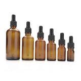 Botella de petróleo esencial de cristal azulverde de la alta calidad 5ml 10ml 20ml 50ml para la venta