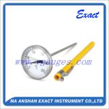 背部エントリ温度計円形の表面ポケット温度計1inのBimeterの温度計