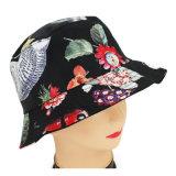 Planície feita sob encomenda da forma que pesca o chapéu impresso floral por atacado barato da cubeta