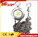 Bloc de poulie à chaînes manuel à chaînes d'acier inoxydable de main