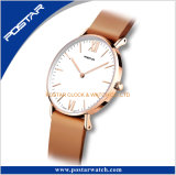 La montre de la version 2017 simple a avancé des montres-bracelet pour la montre de cuir véritable des hommes
