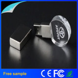 Vara de cristal 8GB do USB da gravura relativa à promoção do logotipo do presente