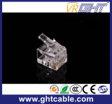 Kristallverbinder Head/RJ45 des Gold-Plated Netz-CAT6