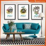 La venta al por mayor de las ilustraciones enmarcada florece la lona que pinta los 3 paneles