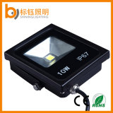 Projecteur ultra-mince imperméable à l'eau extérieur mince du travail 10W DEL d'IP67 AC85-265V