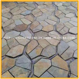 Exterior Piedra Natural Pavimento Rústico / Oxidado Piedra de la pizarra