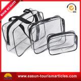 Горячие прозрачные мешки PVC косметические, косметические мешки для авиакомпании