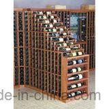 Carrinho de indicador de madeira do frasco da cremalheira do vinho do assoalho da série da adega de vinho