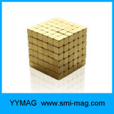 Ímãs do cubo 5X5X5mm NdFeB com cor do ouro