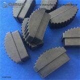 Chapeaux en aluminium d'échelle d'unité centrale de noir fait sur commande de produit de la longueur 70mm