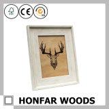Frame de madeira branco moderno da foto do retrato para a decoração