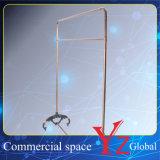陳列台(YZ161801)の陳列だなのステンレス鋼の表示棚のハンガーラック展覧会ラック昇進ラック