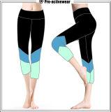 Mulheres quentes da venda que funcionam calças de Capri da aptidão das calças justas