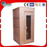 1 pièce portative en bois impeccable bon marché de sauna de personne