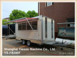 Caminhão do alimento do reboque do caminhão do alimento de Ys-Fb390f para a venda Europa com indicador de deslizamento