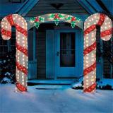 2017 populäre kundenspezifische Zuckerstange-Weihnachtsdekorative Lichter für im Freienbeleuchtung