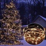 屋外のクリスマスの照明のための100つのLEDの太陽エネルギーストリングライト