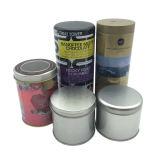 Runder Blechdose-Zinn-Behälter-Großverkauf mit kundenspezifischem Drucken