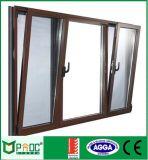 建築材料の緩和されたガラスが付いている省エネアルミニウムプロフィールの傾きの回転Windows