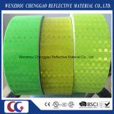 Duidelijke Fluorescente Gele Weerspiegelende Sticker met het Kristal van het Rooster